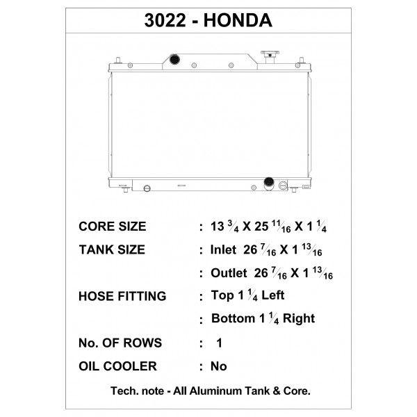 CSF Wärmetauscher Wasserkühler für Honda Civic Si 2003-2005