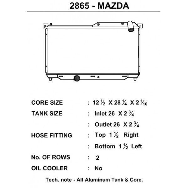 CSF Wärmetauscher Wasserkühler für Mazda RX-7 1992-1997