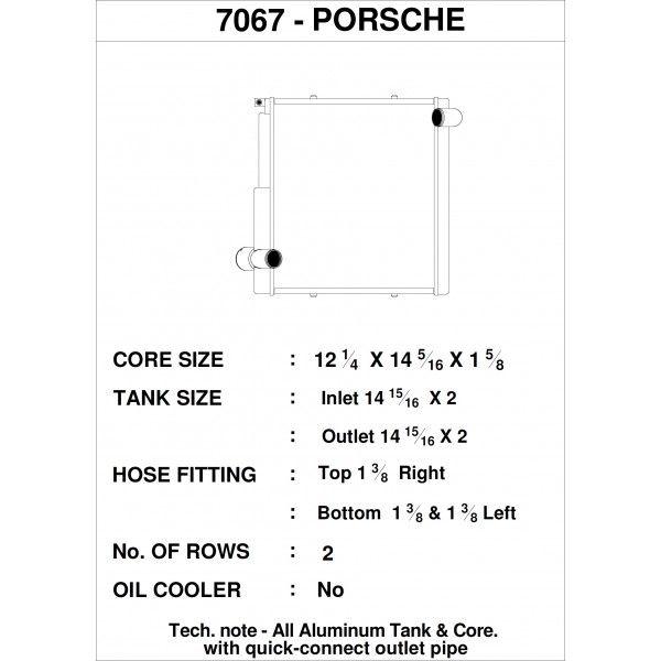 CSF Wärmetauscher Wasserkühler rechts für Porsche 911 Carrera (991.1)  Boxster (981)  GT4   Cayman
