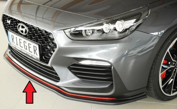 Rieger Spoilerschwert für orig. N-Frontschürze Hyundai i30 N (PDE) 5-tür. (Schrägheck) 07.17-