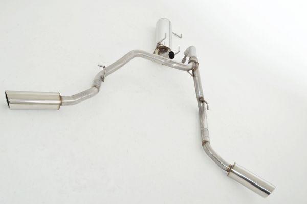70mm Sidepipe Duplexanlage Isuzu D-Max TFS