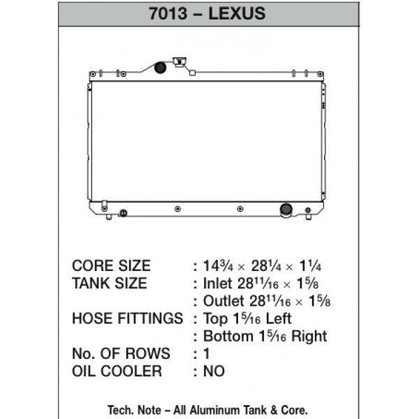 CSF Wärmetauscher Wasserkühler für Lexus IS300 2001-2005