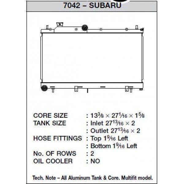 CSF Wärmetauscher Wasserkühler für Subaru Impreza WRX und STI