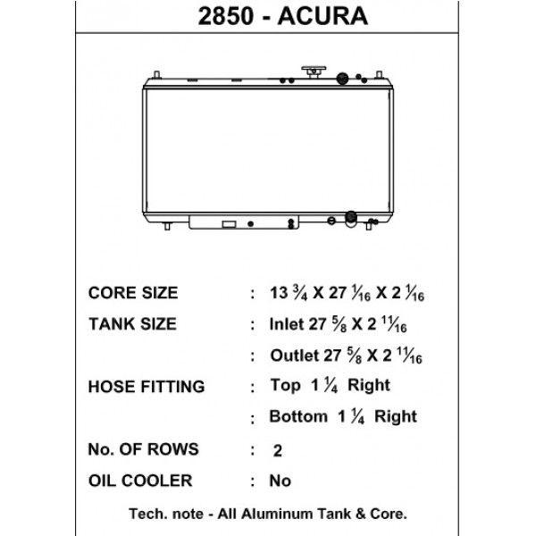CSF Wärmetauscher Wasserkühler für Acura Integra 1994-2001