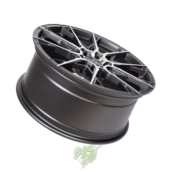 B52 WHEELS X1 REACHER STURMGRAU MATT POLIERT