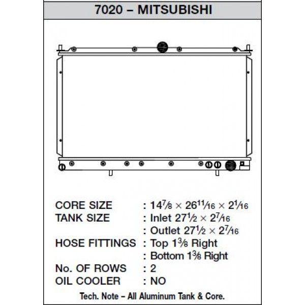 CSF Wärmetauscher Wasserkühler für Mitsubishi 3000 GT 1991-1999