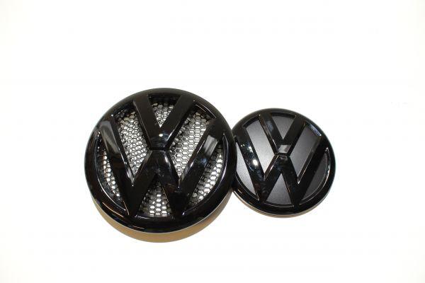 Für .VW T5 Facelift Embleme Set Kühlergrill Zeichen schwarz glänzend #9