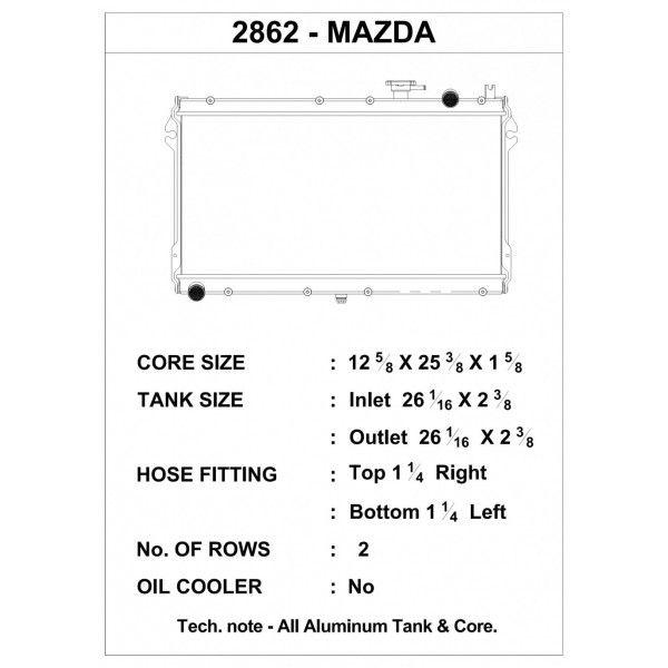 CSF Wärmetauscher Wasserkühler für Mazda Miata 1989-1997