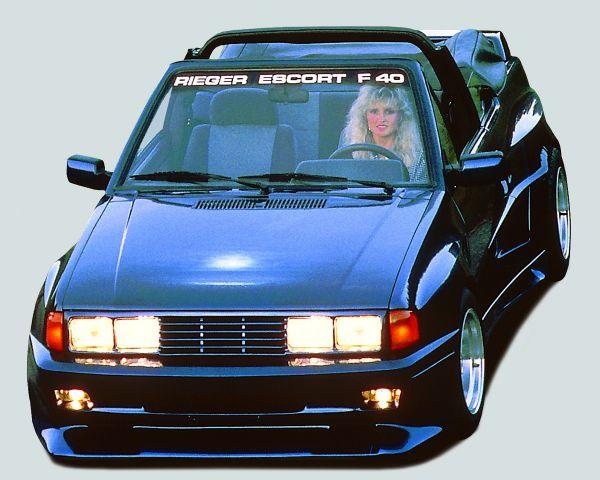 Rieger Spoilerstoßstange Breitbau II Ford Escort 3 3-tür. 00.82-00.88