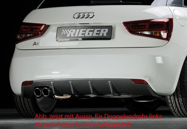 Carbon Look .Rieger Heckeinsatz Audi A1 (8X) 3-tür. 08.10-12.14 (bis Facelift)