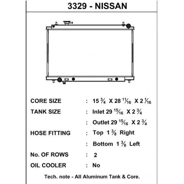 CSF Wärmetauscher Wasserkühler für Nissan 350Z 2003-2006 (DE Motor)