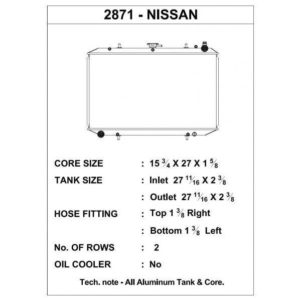 CSF Wärmetauscher Wasserkühler für Nissan 300ZX (kein Turbo) 1990-1997