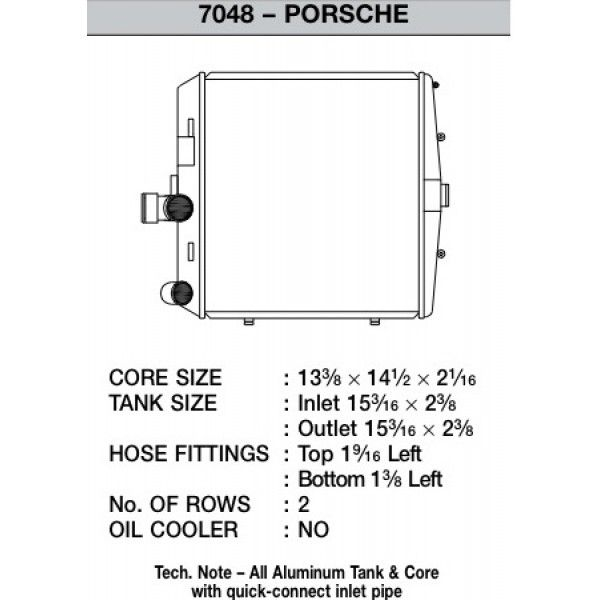 CSF Wärmetauscher Wasserkühler für Porsche Boxster (987) | Cayman | 911er (997) | GT3 rechts