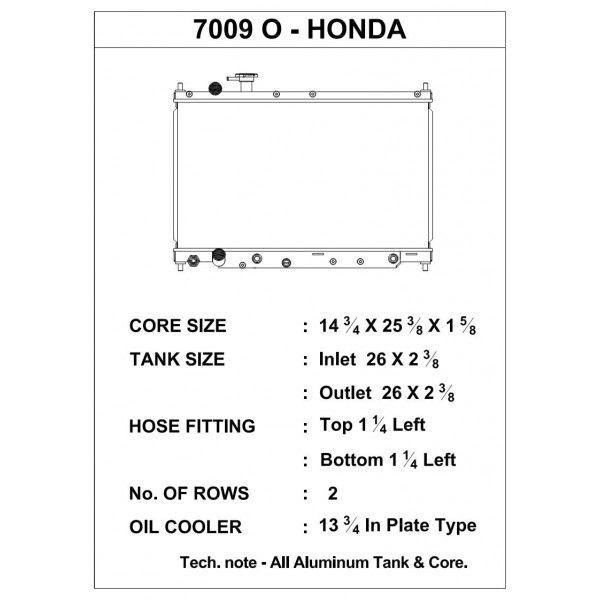 CSF Wärmetauscher Wasserkühler für Honda S2000 2000-2001