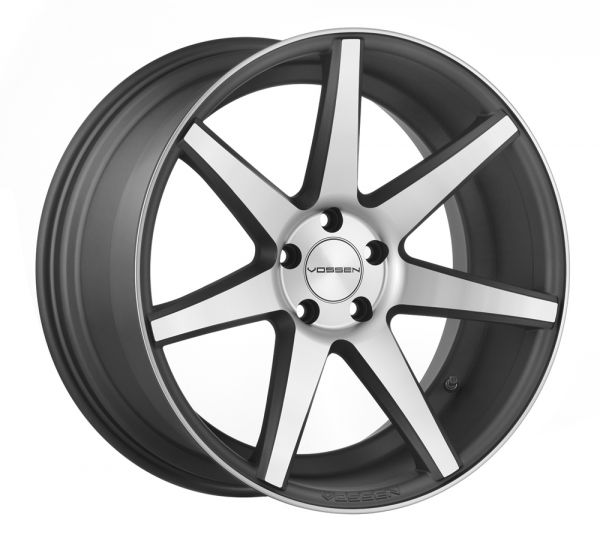 Vossen Felge CV7 9x20 Zoll LK 5x120 ET20 ML 72,56 in Matte Graphite Machined+ Felgenpflegeset Gross