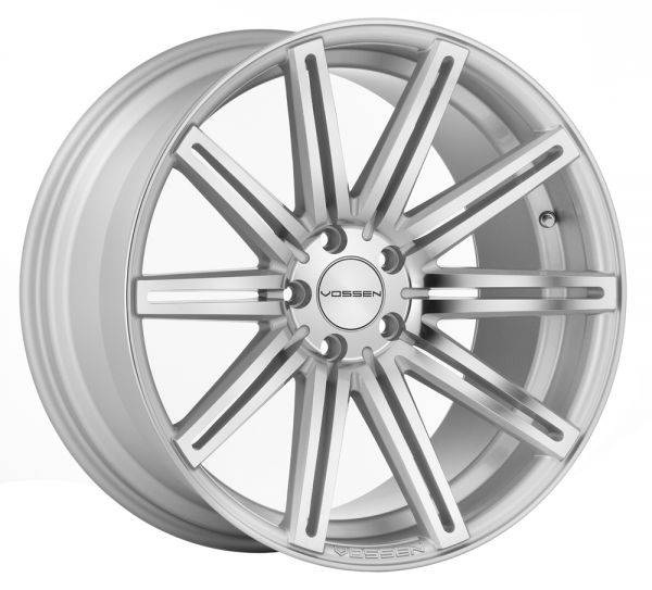 Vossen Felge CV4 10,5x22 Zoll LK 5x108 ET42 ML 63,4 in Silver Mirror Polished+ Felgenpflegeset Gross