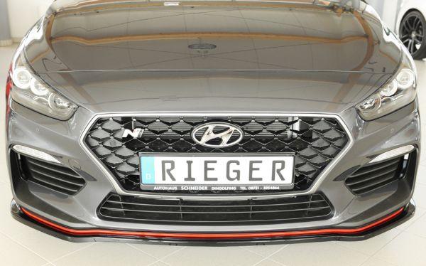 Glanzschwarz .Rieger Spoilerschwert für orig. N-Frontschürze Hyundai i30 N (PDE) 5-tür. (Fastback)