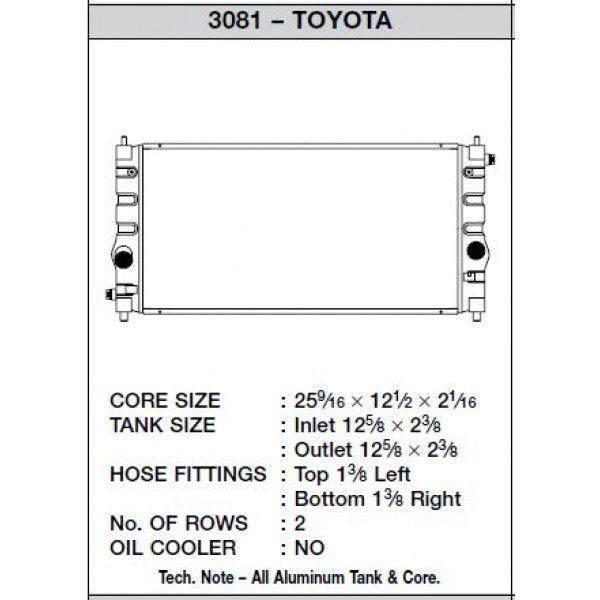 CSF Wärmetauscher Wasserkühler für Toyota MR2 2000-2005