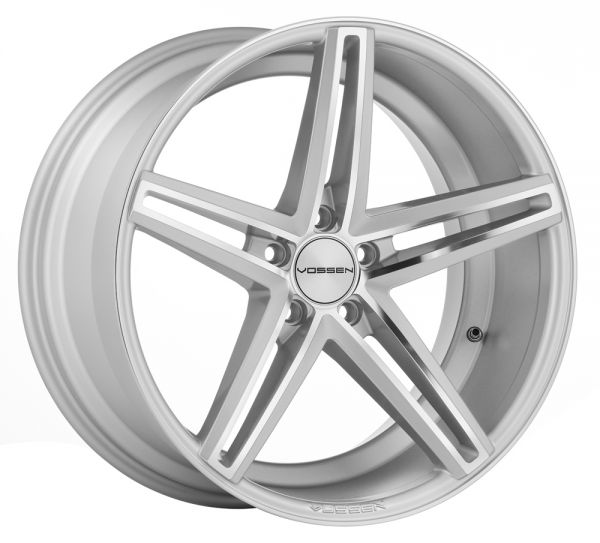 Vossen Felge CV5 9x20 Zoll LK 5x120 ET20 ML 72,56 in Silver Mirror Polished+ Felgenpflegeset Gross