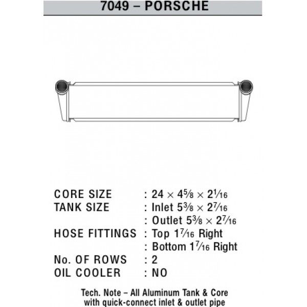 CSF Wärmetauscher Wasserkühler für Porsche Boxster (987) | Cayman | 911er (997) mitte