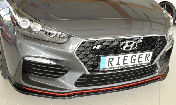 Rieger Spoilerschwert für orig. N-Frontschürze Hyundai i30 N-Performance (PDE) 5-tür. 07.17-