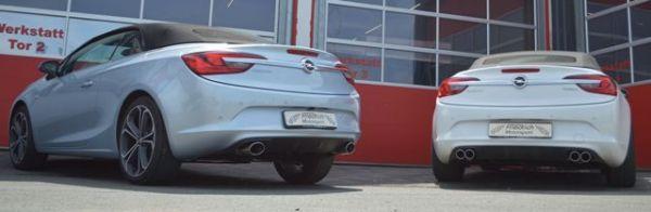 70mm Duplex-Sportendschalldämpfer Opel Cascada