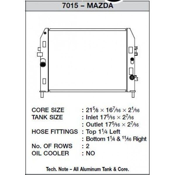 CSF Wärmetauscher Wasserkühler für Mazda Miata 2006-2014