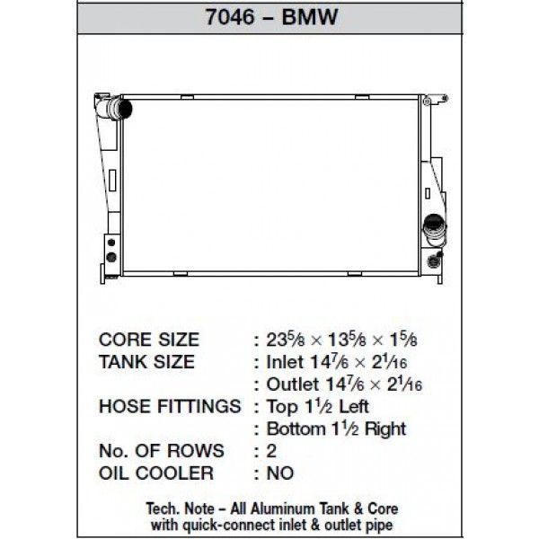 CSF Wärmetauscher Wasserkühler für BMW 1M 135i 335 Z4 Automatik