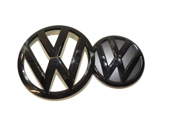 VW T6 Embleme Glanzschwarz Set Kühlergrill Zeichen