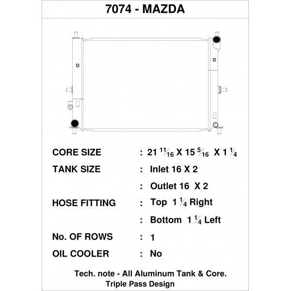 CSF Wärmetauscher Wasserkühler für Mazda MX-5 / Miata (ND) 2015+
