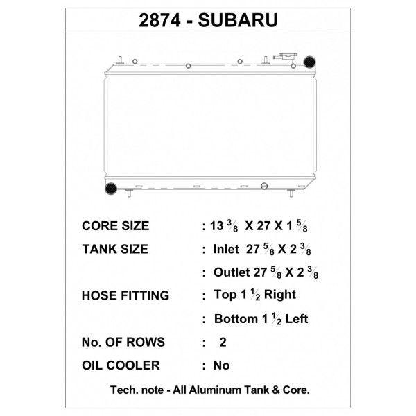 CSF Wärmetauscher Wasserkühler für Subaru Impreza 1993-1998 (inkl. Outback Sport)
