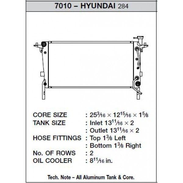 CSF Wärmetauscher Wasserkühler für Hyundai Genisis 2.0 Turbo (Automatik)