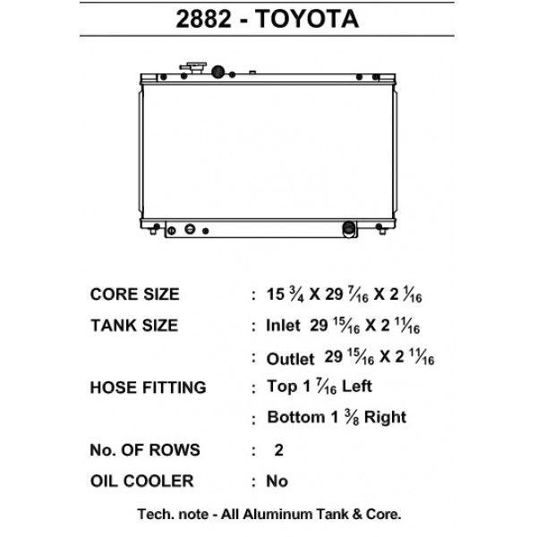 CSF Wärmetauscher Wasserkühler für Toyota Supra 1993-1998