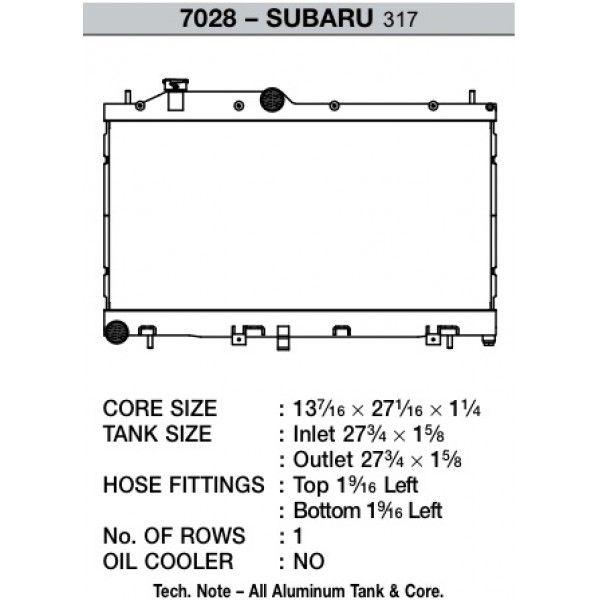 CSF Wärmetauscher Wasserkühler für Subaru Impreza WRX STI 2008-2014