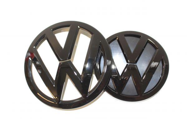 vw golf 7 vii gti gtd r logo zeichen emblem set black. Black Bedroom Furniture Sets. Home Design Ideas
