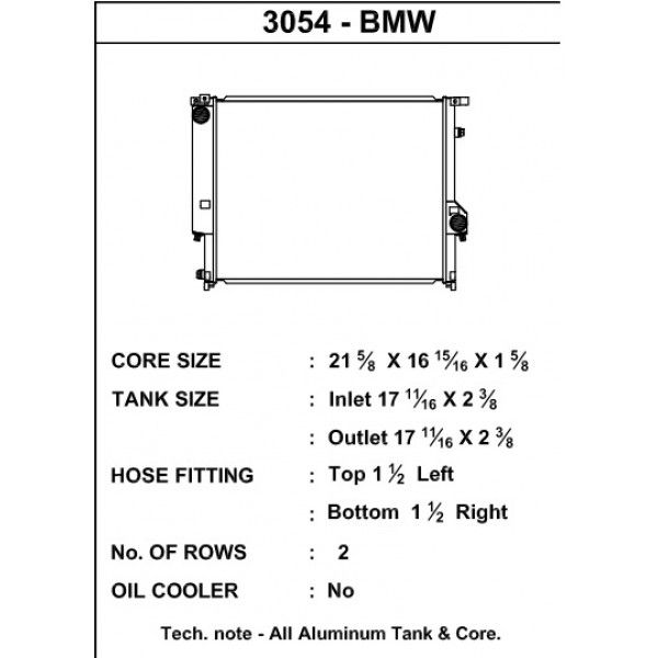 CSF Wärmetauscher Wasserkühler für BMW E36 320i 323 325 328 M3