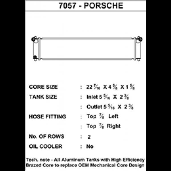 CSF Wärmetauscher Wasserkühler mitte für Porsche 996 911er (1998-2005) | 986 Boxster (1996-2004)