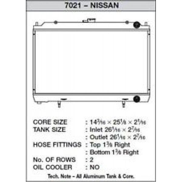 CSF Wärmetauscher Wasserkühler für Nissan 240SX 1995-1998