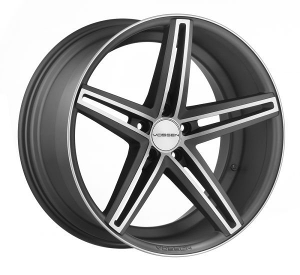 Vossen Felge CV5 9x20 Zoll LK 5x120 ET20 ML 72,56 in Matte Graphite Machined+ Felgenpflegeset Gross