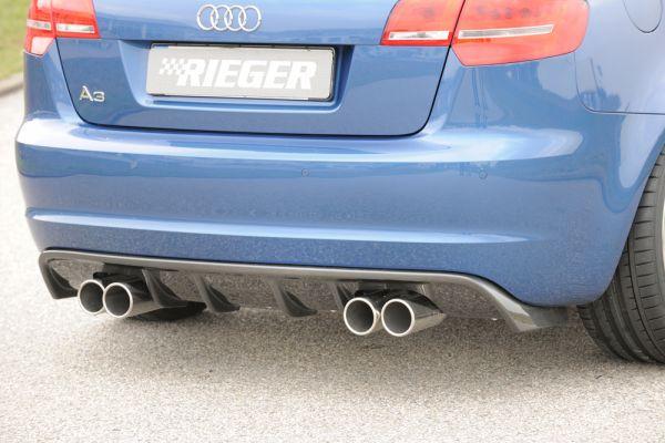 Carbon Look Rieger Heckeinsatz Audi A3 8p Sportback 07 08 Ab