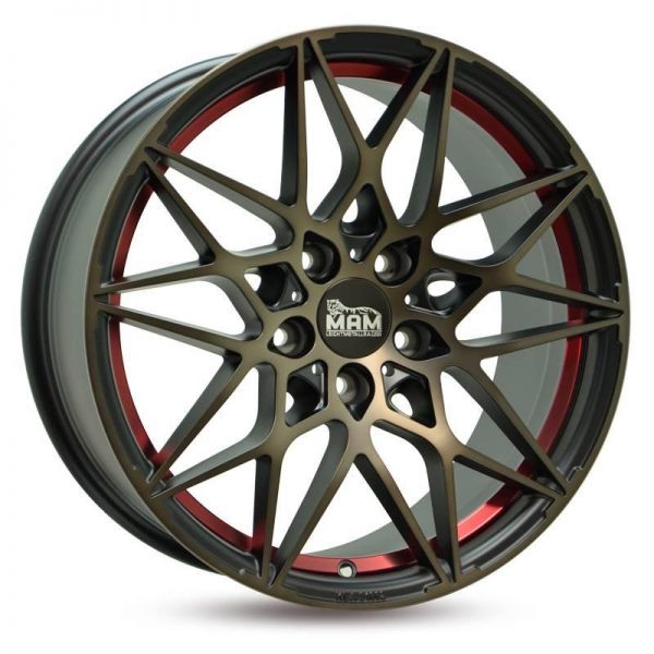 MAMB2 8,5x19 ET45 LK 5x112 Matt Black Bronze Red Inlay