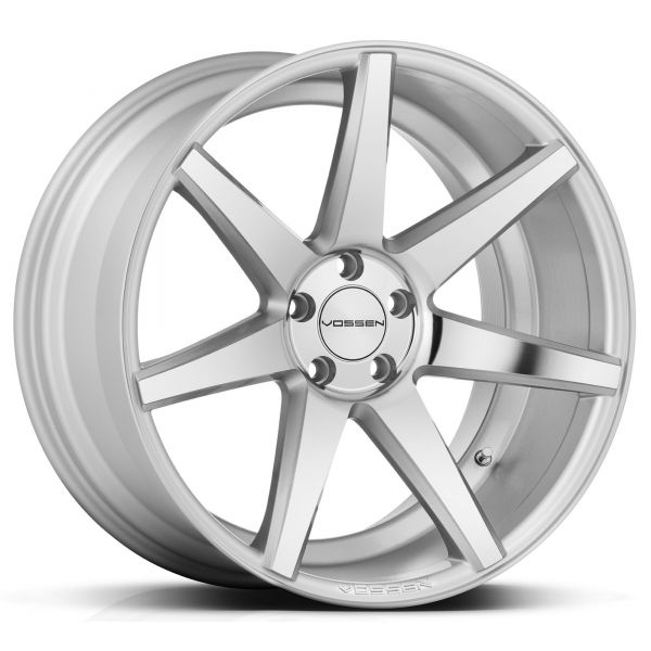 Vossen Felge CV7 10x20 Zoll LK 5x120 ET45 ML 72,56 in Silver Mirror Polished+ Felgenpflegeset Gross